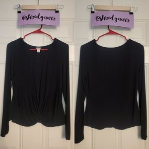 Long Sleeve Black Mossimo Top